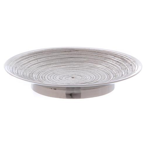 Piatto portacandele ottone nichelato spirale 11,5 cm 1