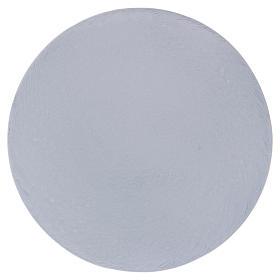 Piatto portacandele tondo alluminio bianco 12 cm  s1