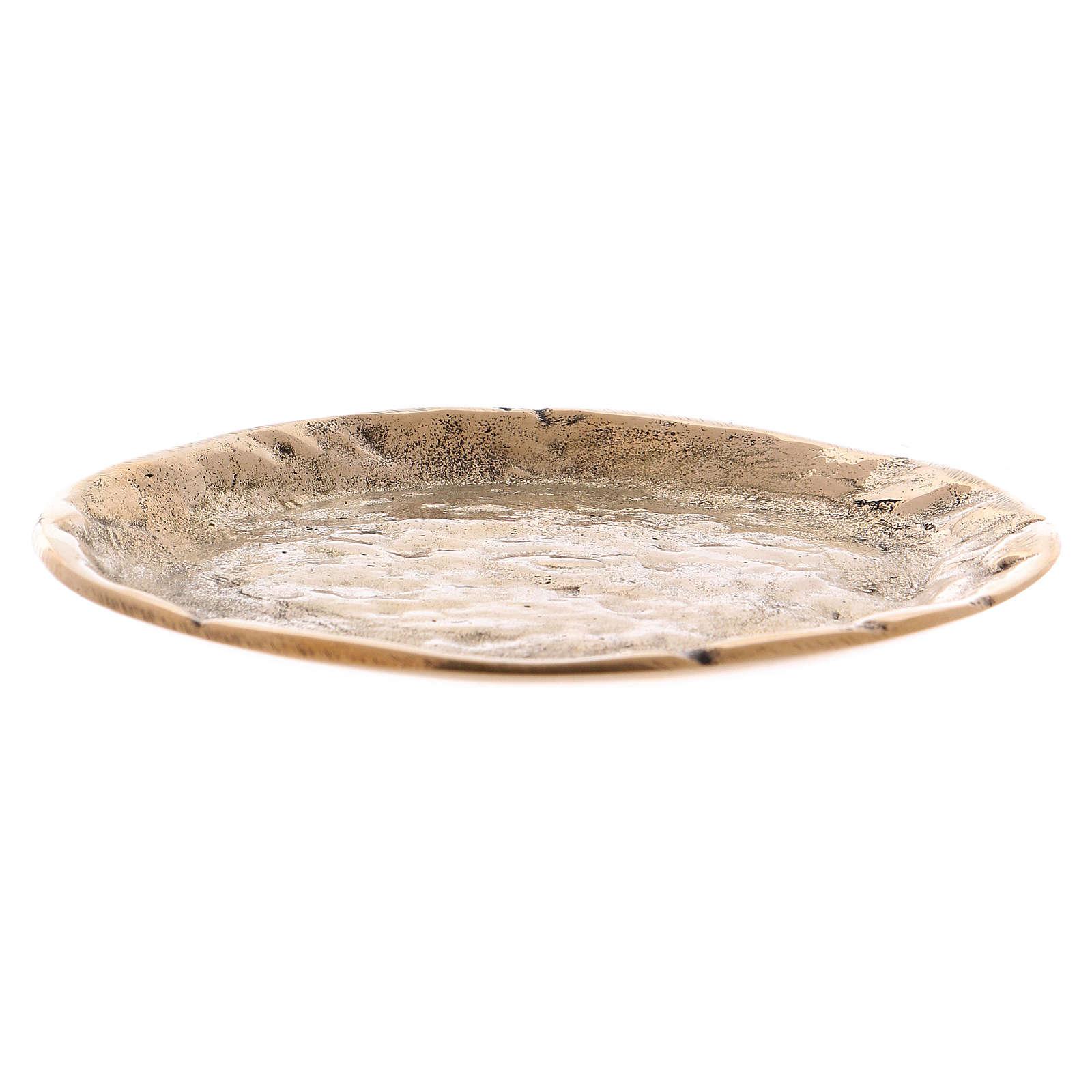 Portavelas latón oro lúcido interior efecto opaco 9 cm 3