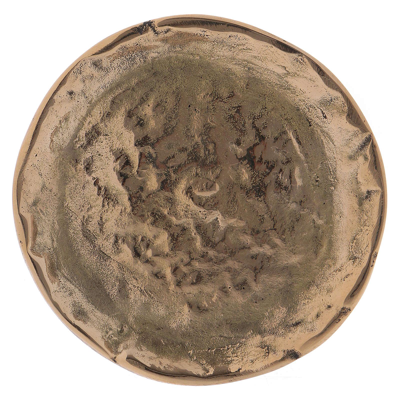 Portacandele ottone oro lucido interno effetto opaco 9 cm 3