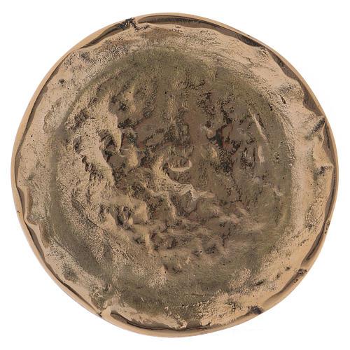 Portacandele ottone oro lucido interno effetto opaco 9 cm 1