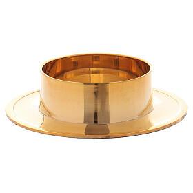 Castiçal redondo em latão dourado brilhante 6 cm s2