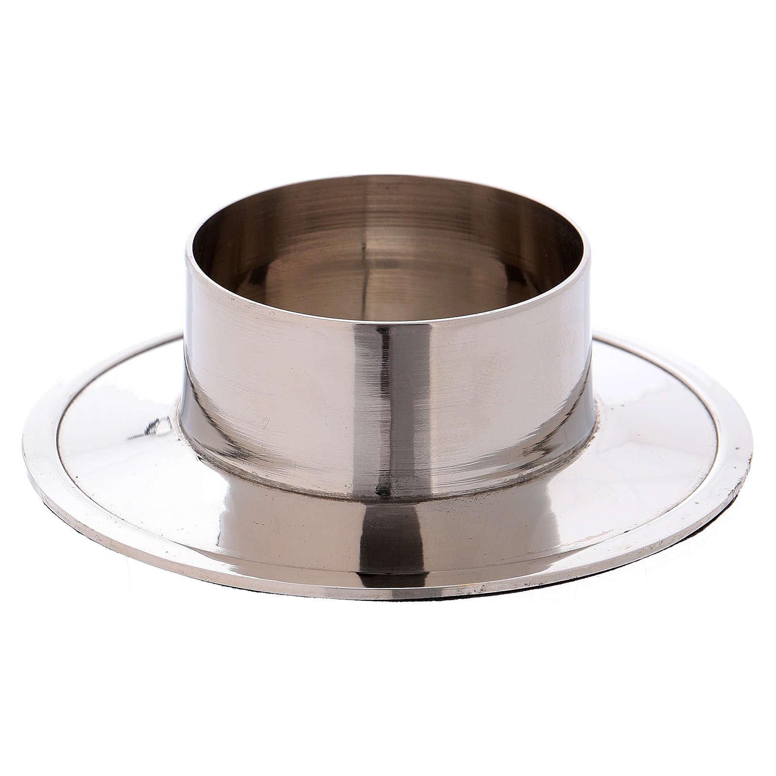 Portacandele in alluminio nichelato lucido interno 5 cm 4