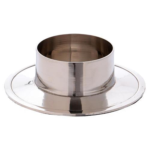 Portacandele in alluminio nichelato lucido interno 5 cm 1