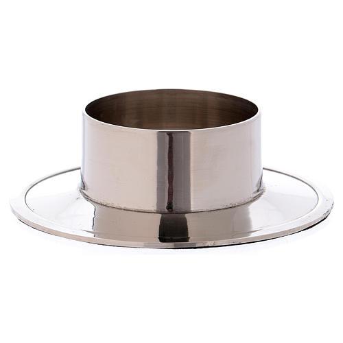 Portacandele in alluminio nichelato lucido interno 5 cm 2