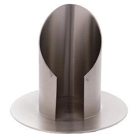 Portacandele ottone nichelato opaco tubo 6 cm s1