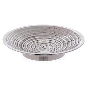 Chandeliers métal: Assiette à bougies ronde décoration spirale 10 cm