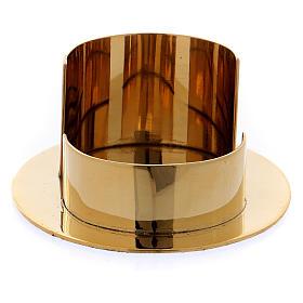 Portacandele moderno forma ovale ottone oro lucido 6 cm s2