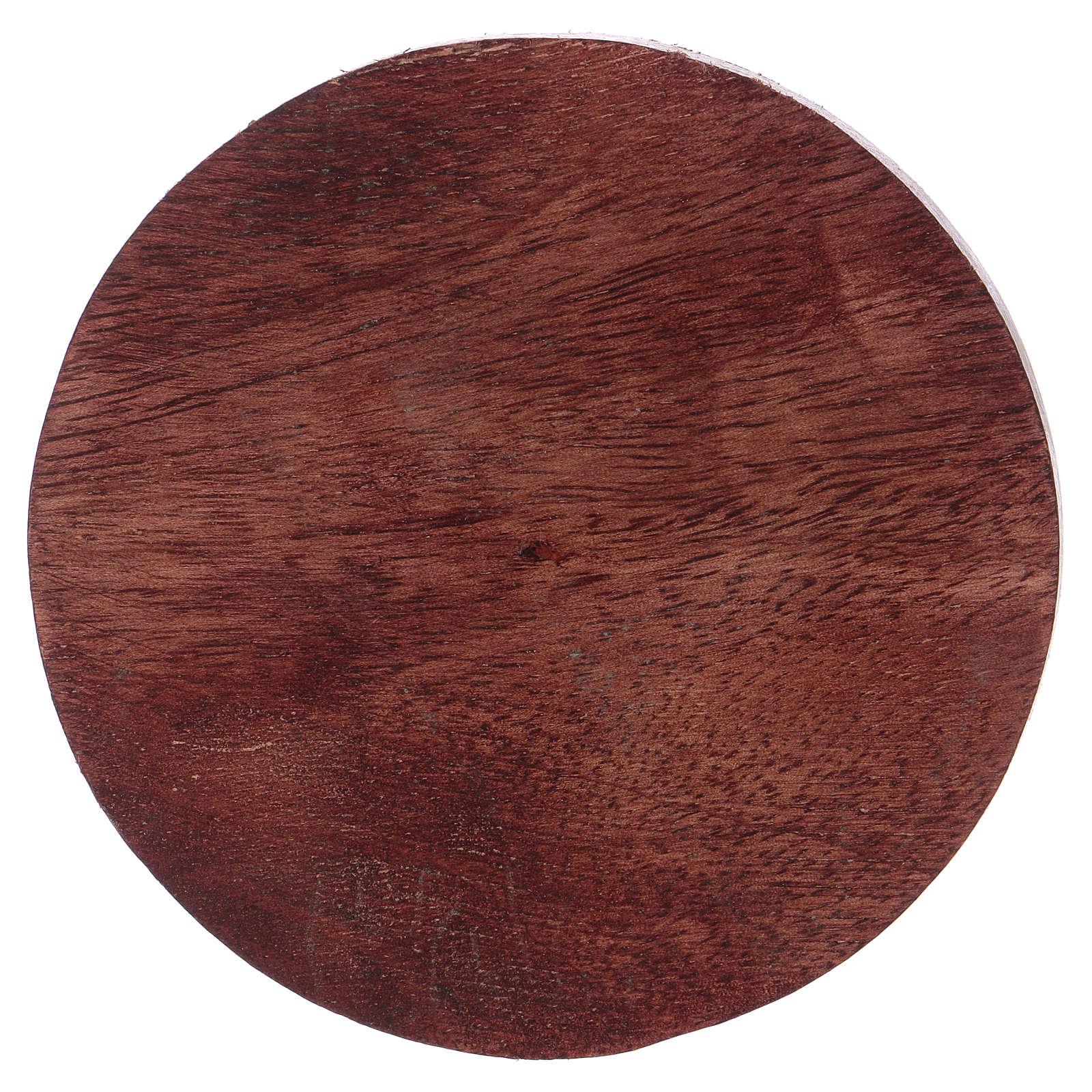 Piattino portacandela legno di mango 10 cm 3