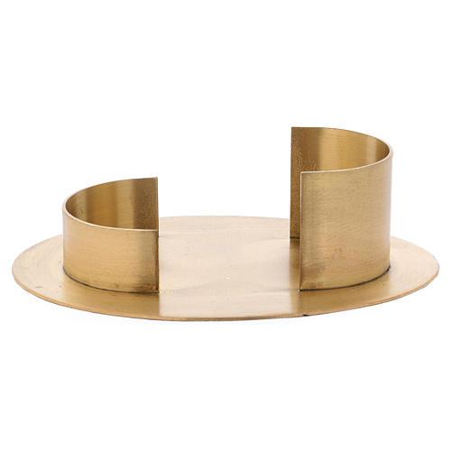 Portacandele forma ovale moderna in ottone dorato satinato interno 9x 5 cm 1