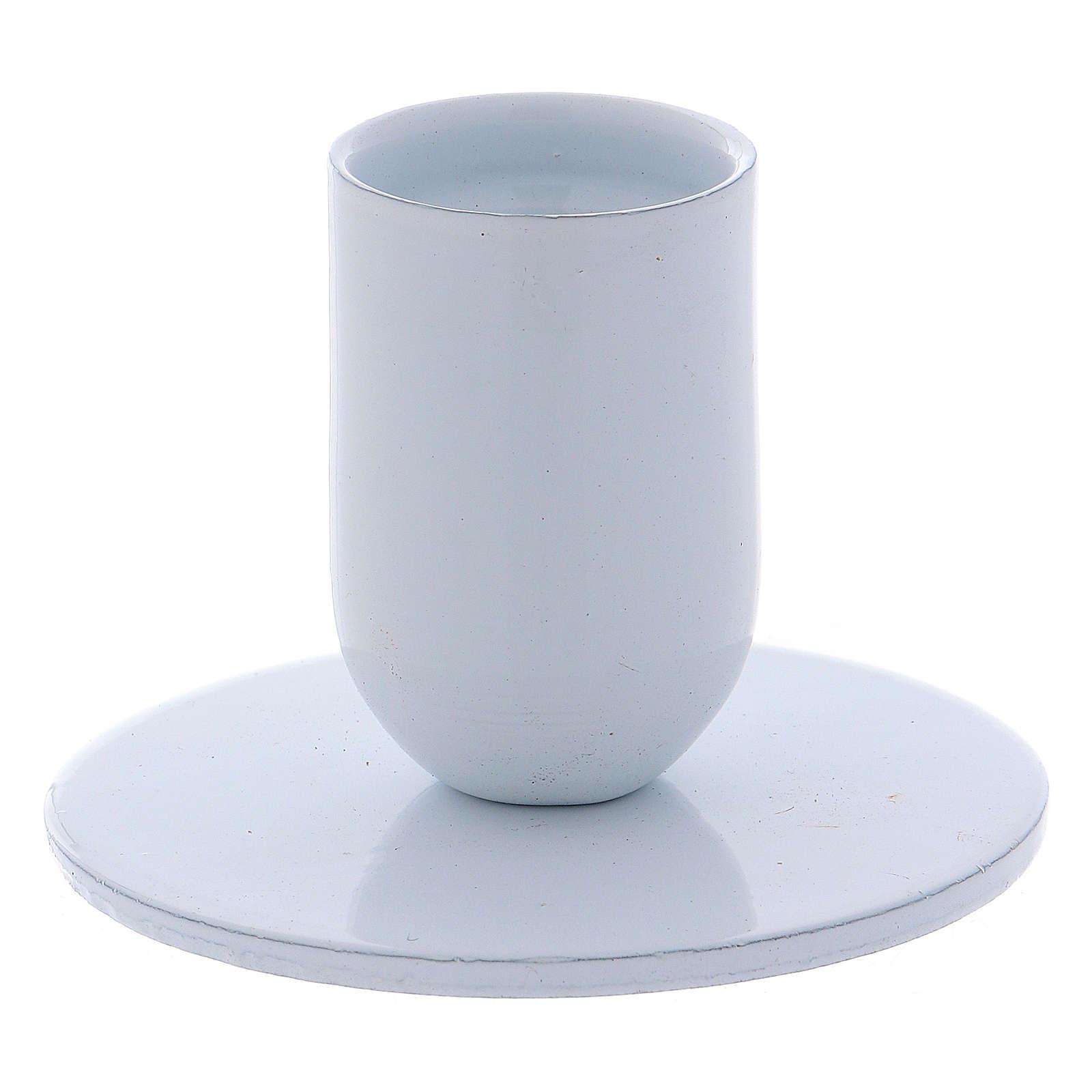 Portavelas tubo de hierro blanco diámetro 2 cm 3
