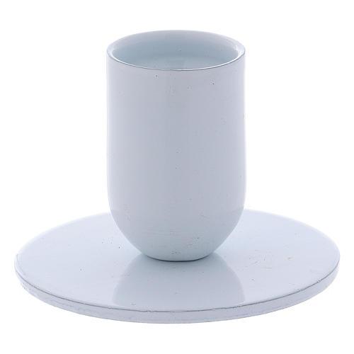 Portavelas tubo de hierro blanco diámetro 2 cm 1