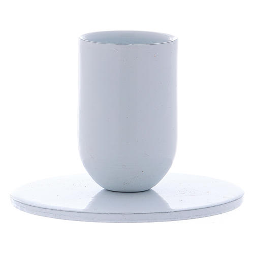 Portavelas tubo de hierro blanco diámetro 2 cm 2