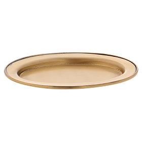 Platillo portavela 12 cm latón dorado opaco s2