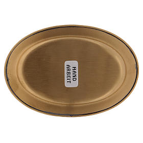 Platillo portavela 12 cm latón dorado opaco s3