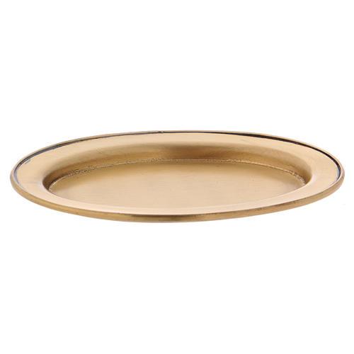 Platillo portavela 12 cm latón dorado opaco 2