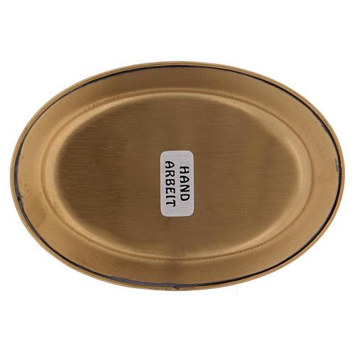 Platillo portavela 12 cm latón dorado opaco 3