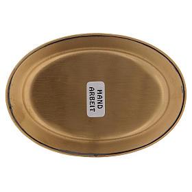 Assiette à bougie 12 cm laiton doré mat s3