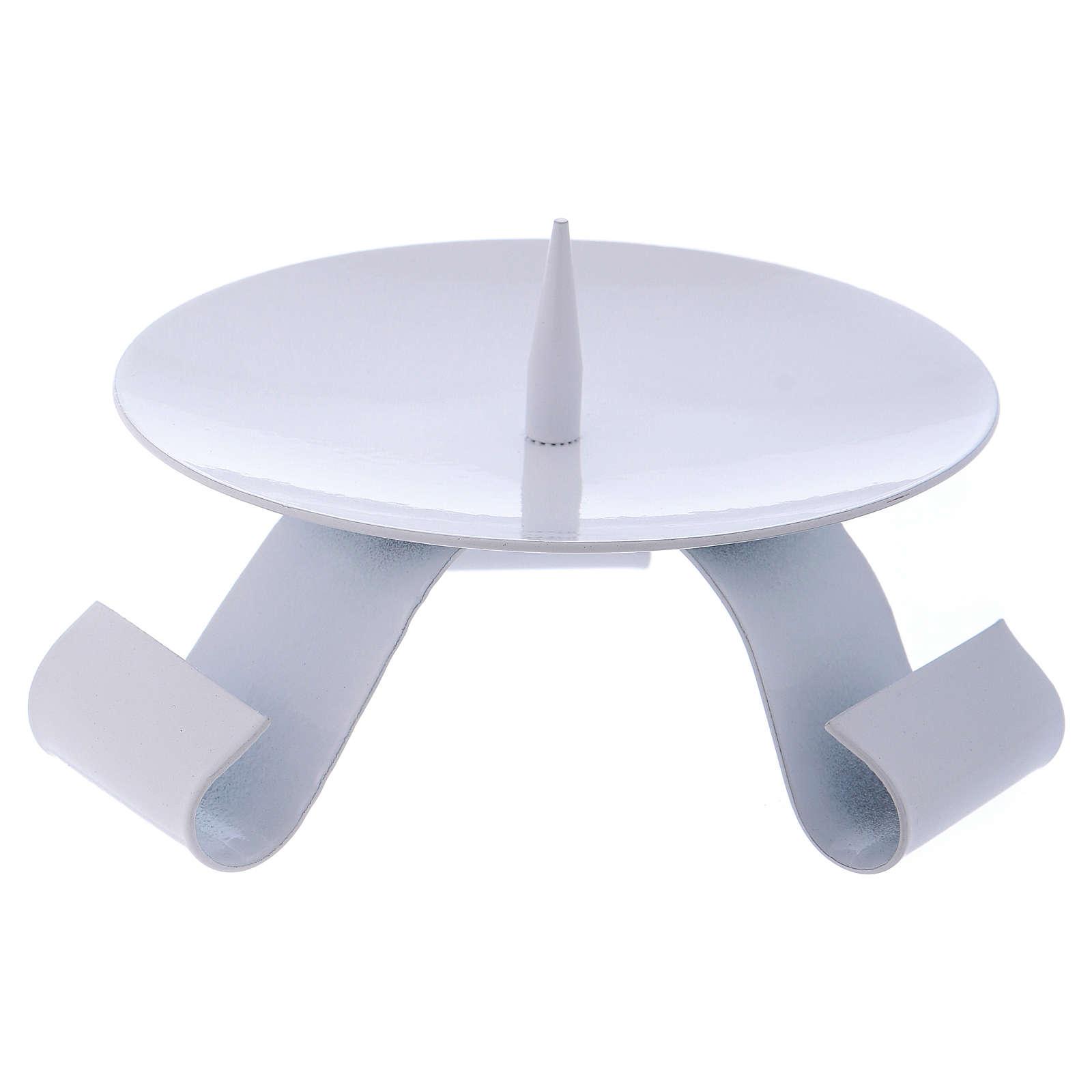 Porte-bougie en fer blanc pique centrale diam. 11,5 cm 3