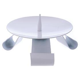 Porte-bougie en fer blanc pique centrale diam. 11,5 cm s1