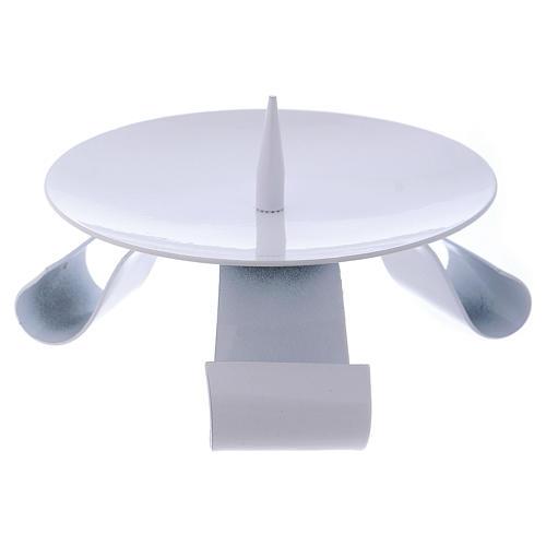 Porte-bougie en fer blanc pique centrale diam. 11,5 cm 1