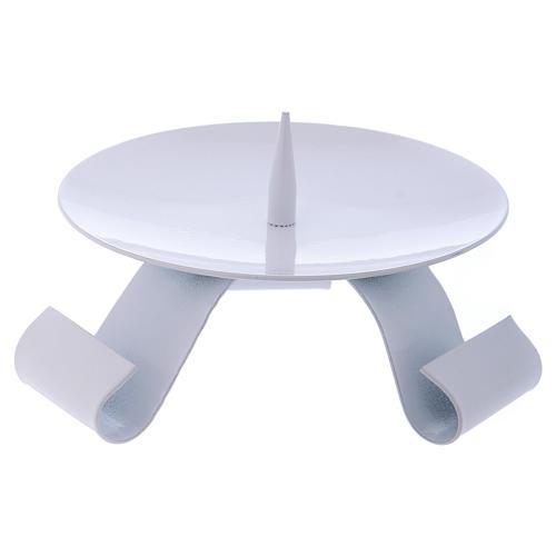 Porte-bougie en fer blanc pique centrale diam. 11,5 cm 2