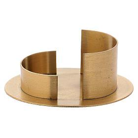 Portacandele linee moderne ottone dorato satinato s1