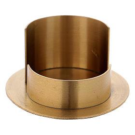 Portacandele linee moderne ottone dorato satinato s2