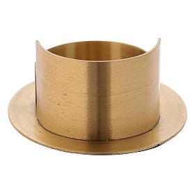 Portacandele linee moderne ottone dorato satinato s3