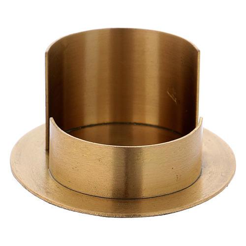 Portacandele linee moderne ottone dorato satinato 2