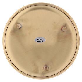 Piattino portacandele ottone satinato dorato d. 14 cm s2