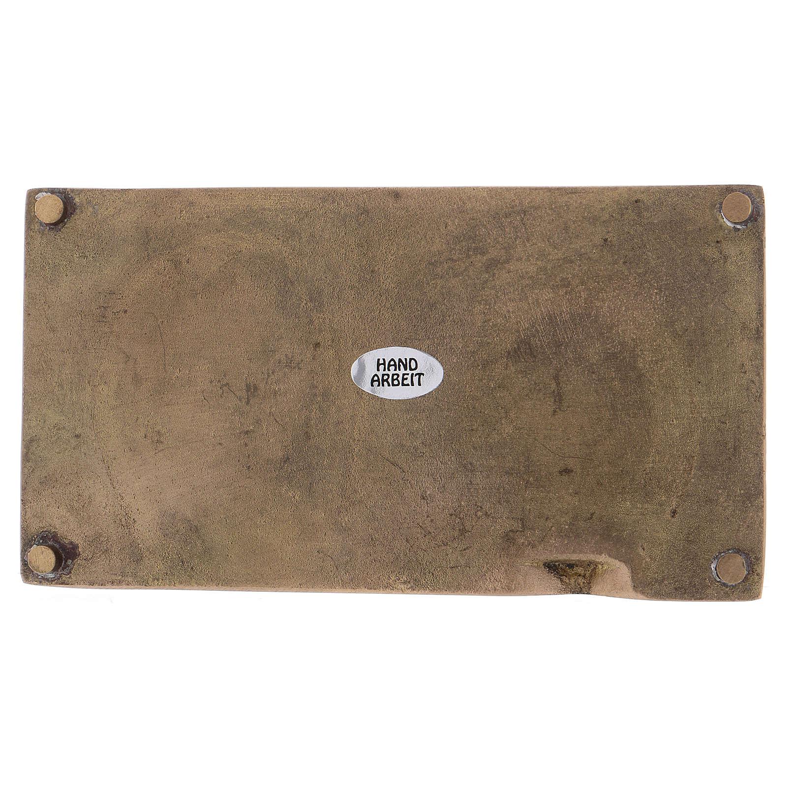 Portacandele rettangolare ottone dorato opaco 3