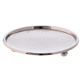 Portacandele ottone argentato lucido diametro 13 cm s2
