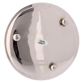 Portacandele ottone argentato lucido diametro 13 cm s3