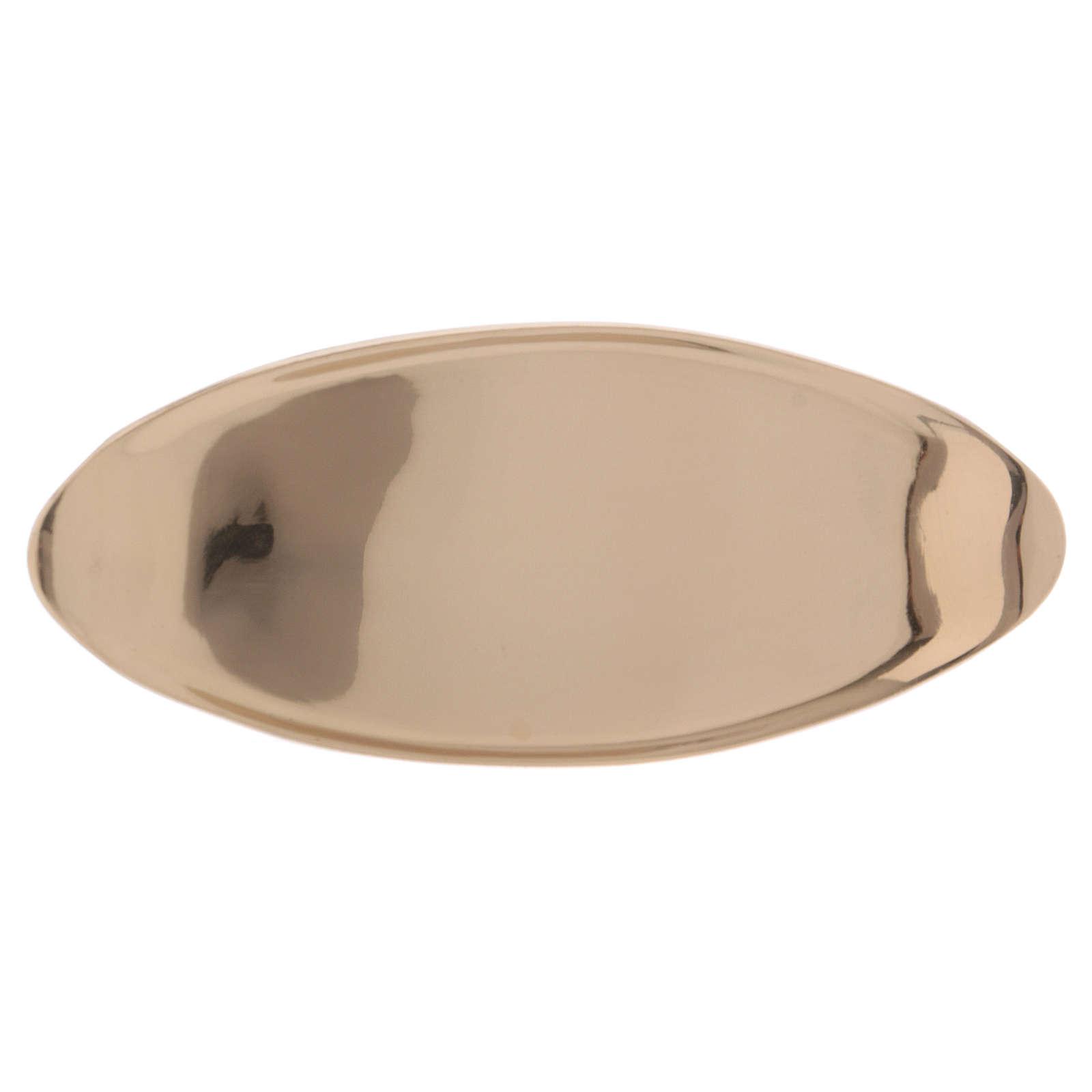 Portacandele ovale ottone dorato lucido 3