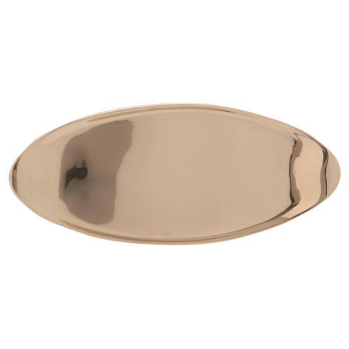Portacandele ovale ottone dorato lucido 1