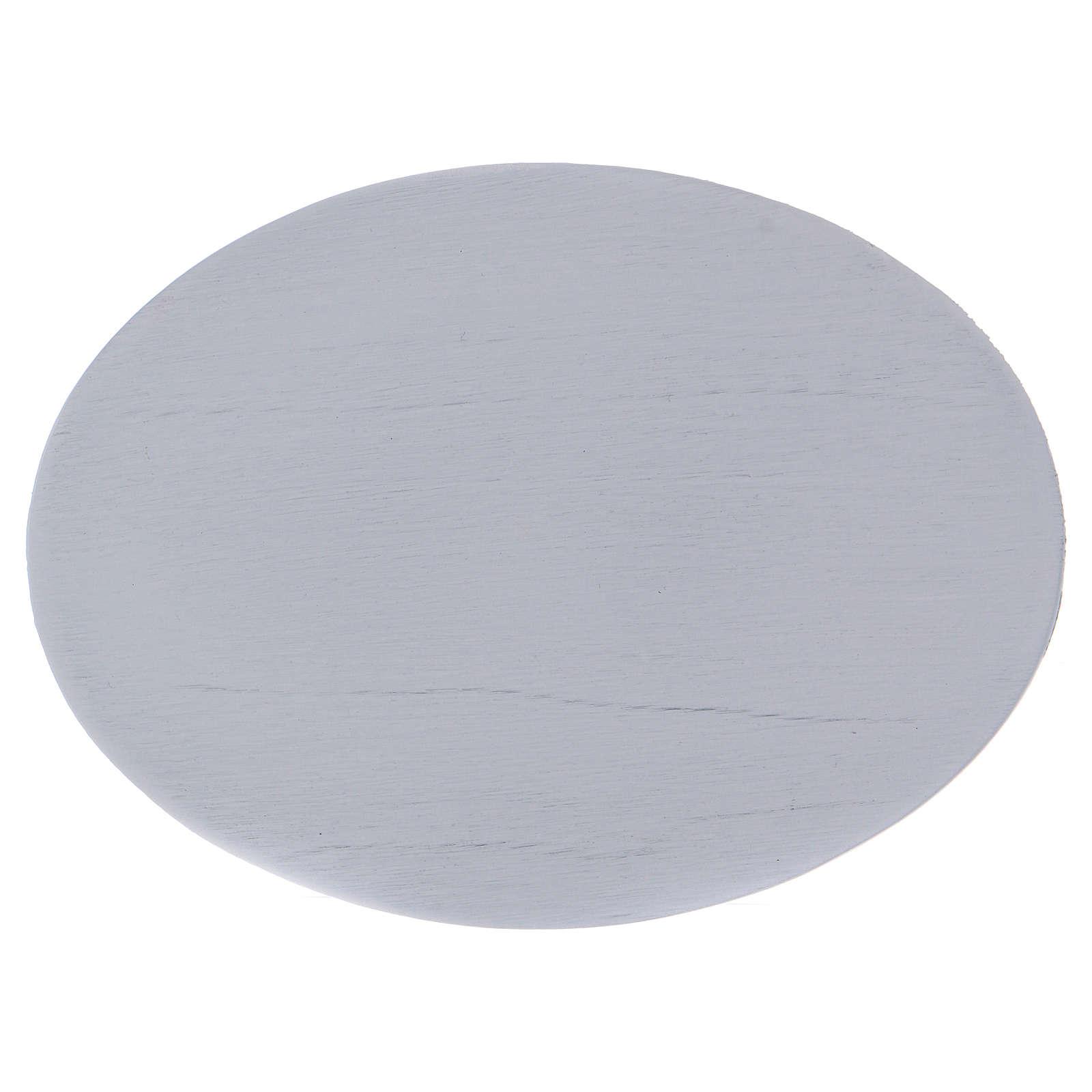 Piattino portacandele semplice ovale bianco 3