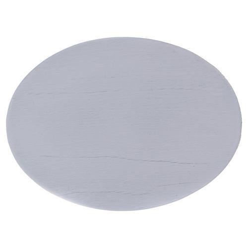 Piattino portacandele semplice ovale bianco 1