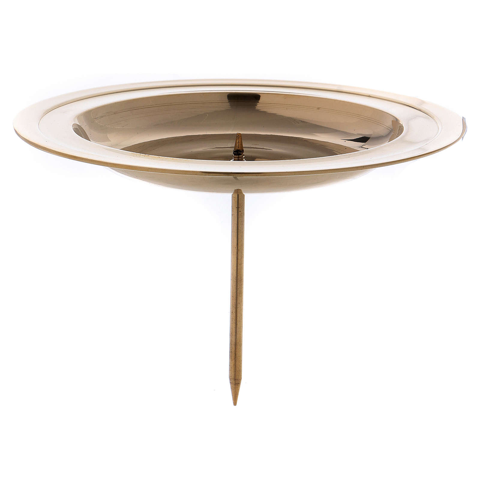Advent candle holder in gold-plated brass with jag 3