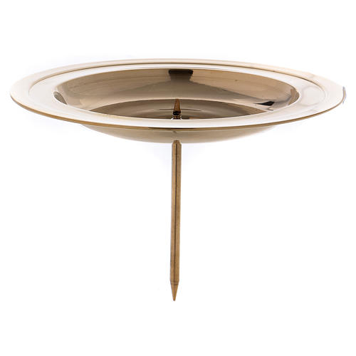 Advent candle holder in gold-plated brass with jag 1