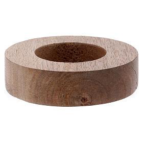 Portacandele legno con bordo tubolare rialzato  s1