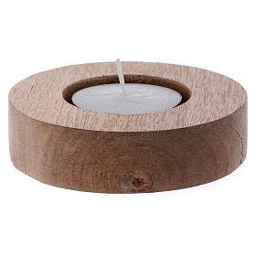 Portacandele legno con bordo tubolare rialzato  s2