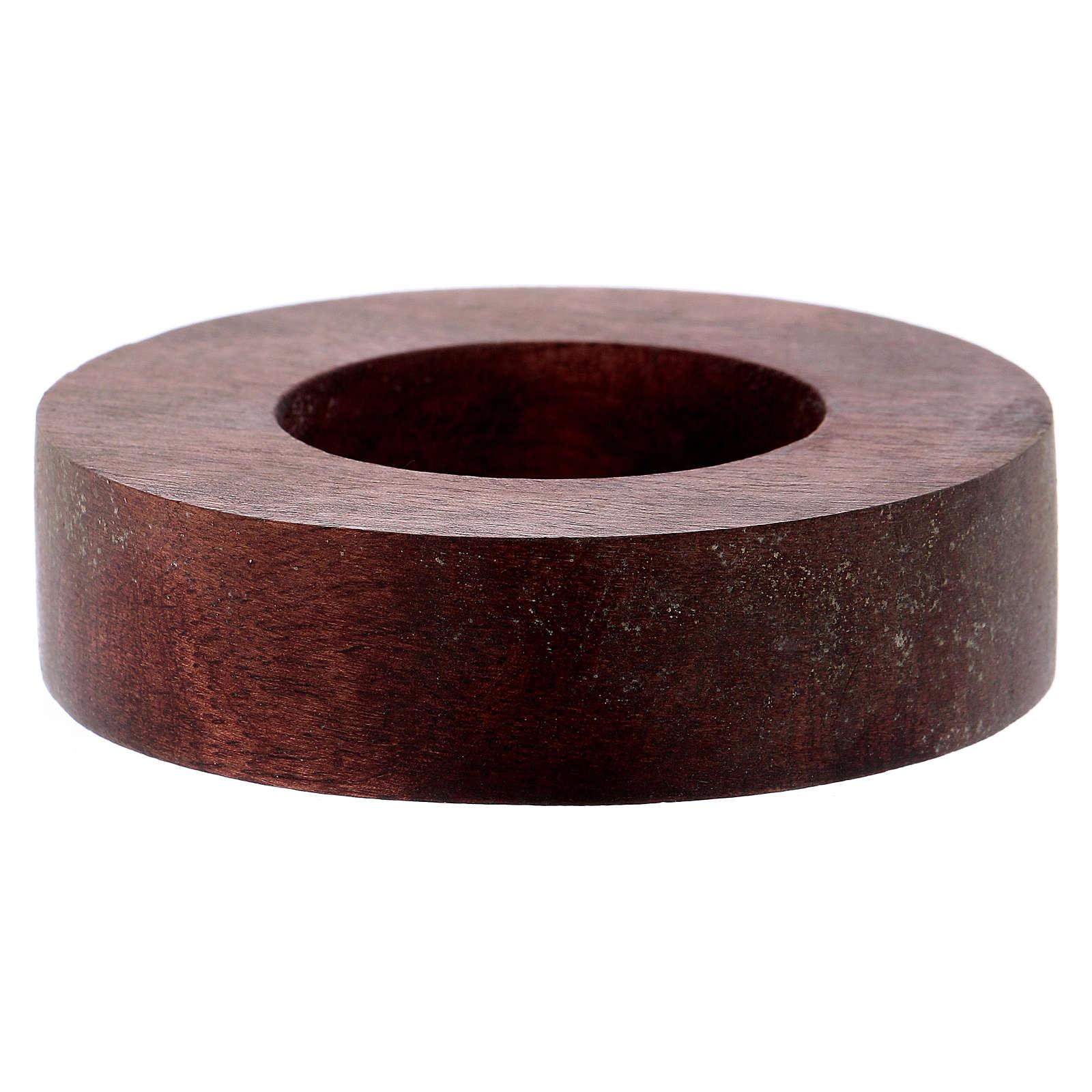 Portacandele legno con bordo rialzato  3