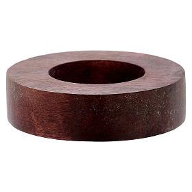 Portacandele legno con bordo rialzato  s1