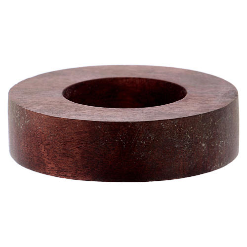 Portacandele legno con bordo rialzato  1