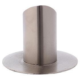 Portacandele tubolare aperto ottone argentato s3
