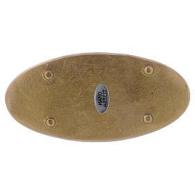 Platillo portacirio ovalado latón opaco s2
