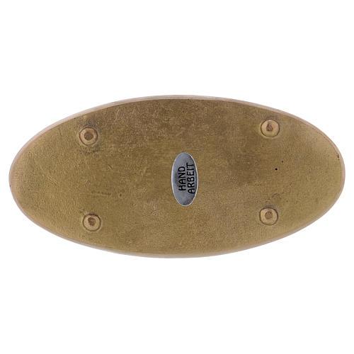 Piattino portacero ovale ottone opaco 2