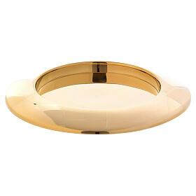Prato porta-vela bordo elevado latão dourado s1