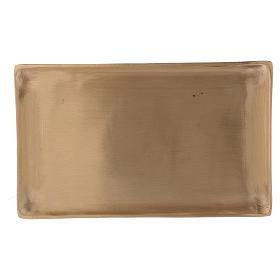 Piattino portacandele ottone dorato rettangolare s1